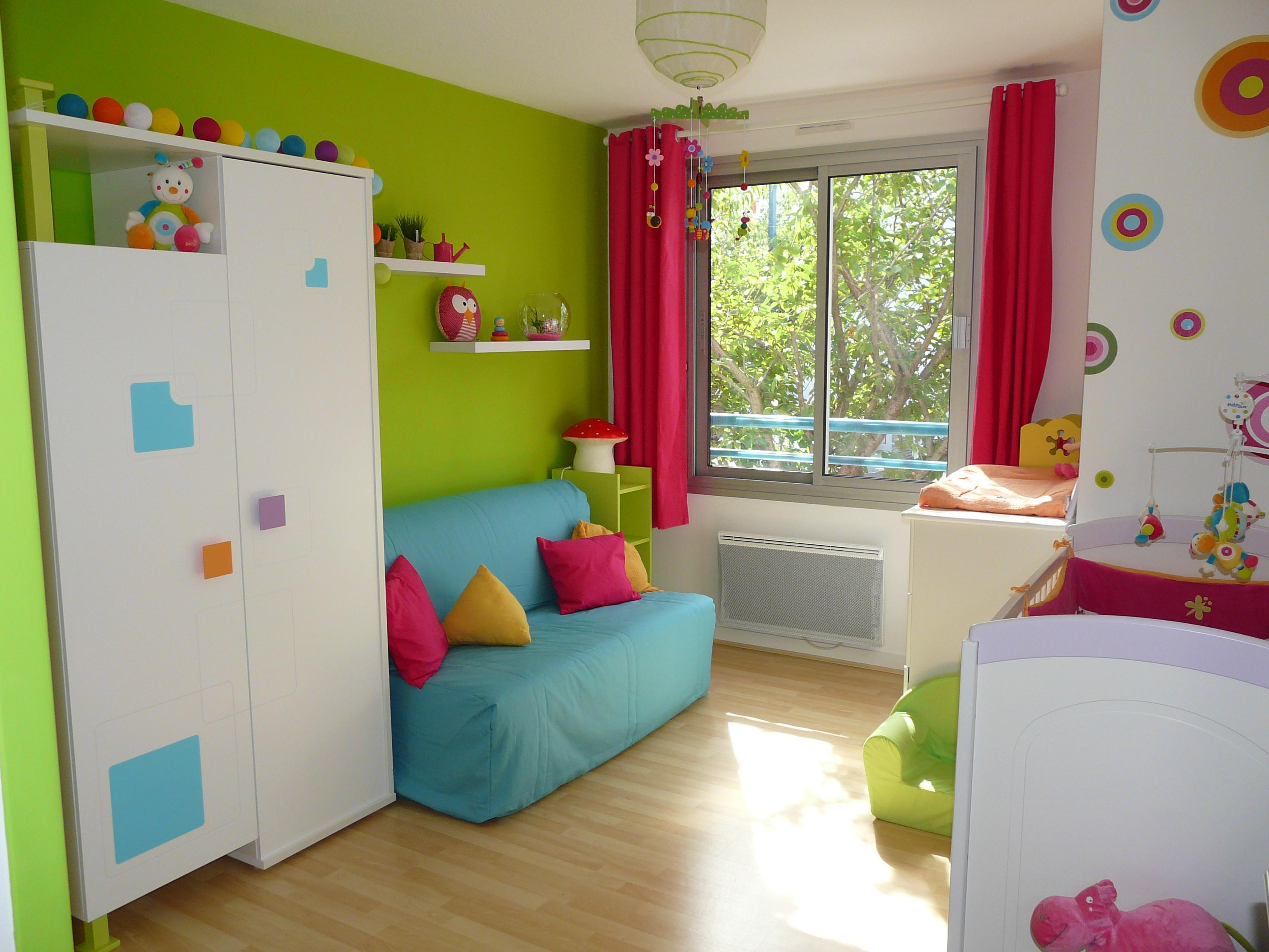 D co chambre fille et garcon ensemble for Photo lit enfant